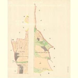 Klein Deschau - m1710-1-001 - Kaiserpflichtexemplar der Landkarten des stabilen Katasters