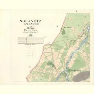 Solanetz (Solanetz) - m2815-1-002 - Kaiserpflichtexemplar der Landkarten des stabilen Katasters