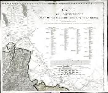 Carte des départements des Hautes Alpes de l'Isere, et de la Drome, no. 2