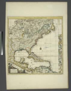 Amerique septentrionale: suivant la carte de Pople faite à Londres en 20 feuilles.