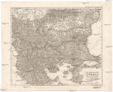 Die europaeische Türkei von der Gränze Griechenlands bis zu den Mündungen der Donau
