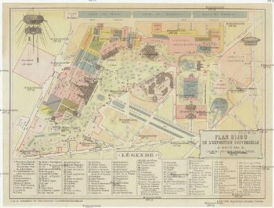 Plan bijou de l'Exposition universelle