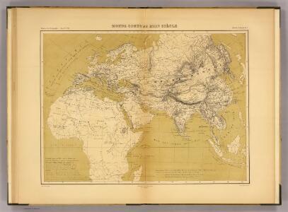 Monde connu au XIIIe. siecle.