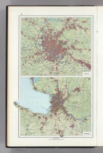 15.  Moscow.  Leningrad.  (Vicinity).  The World Atlas.