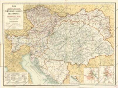 Eisenbahnkarte von Österreich - Ungarn
