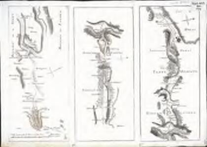 Carte topographique de la grande route de Berne à Genève, Blatt 1-3