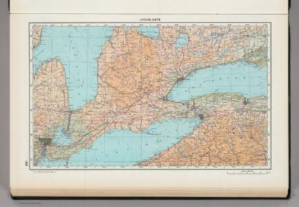 190.  Ontario, South.  The World Atlas.
