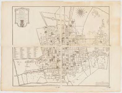 Plano geometrico de la imperial noble y leal ciudad de Mexico : teniendo por extremo la zanxa y garitas del resguardo de la real aduana