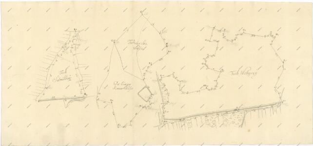 Záměrná mapa rybníků Sedmilháře a Vobojského a luk na rozhraní Třeboně a Branné 1