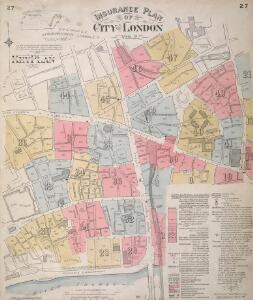 Insurance Plan of City of London Vol. II: Key Plan