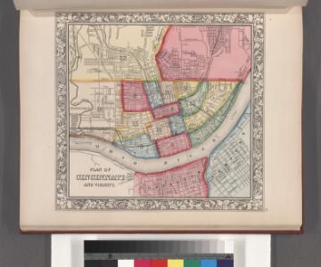 Plan of Cincinnati and vicinity.