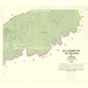 Petrowitz (Pustěgowo) - m2489-1-005 - Kaiserpflichtexemplar der Landkarten des stabilen Katasters