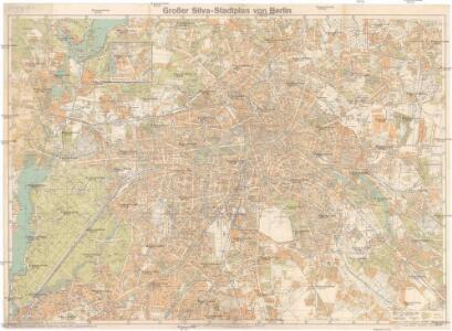 Großer Silva-Stadtplan von Berlin
