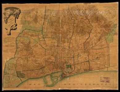 Plano de Barcelona y sus alrededores en 1890 aprobado por el Exemo. Ayuntamiento en sesion del dia 13 de enero de 1891 / trazado por D. J.M. Serra