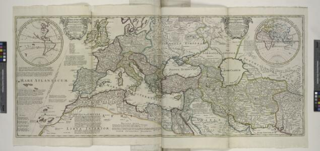 An historical map of Roman Empire and the neighbouring barbarous nations to the year of our Lord four hundred, when the empire began to be rent with foreign invasions. / ... by Monsieur William Del Isle, member of and the geographer to the Academy Royall