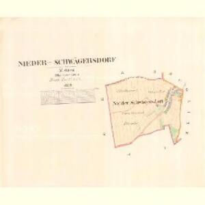 Nieder Schwägersdorf - m0500-1-001 - Kaiserpflichtexemplar der Landkarten des stabilen Katasters