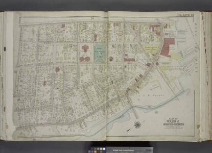 Part of Ward 3. [Map bound by Richmond Ave, Richmond Terrace, Pierhead and Bulkhead Line, Palmers Run/ Bodines Pond, Jewett Ave, Simonson PL, Anderson Ave (New York Ave), Washington PL, Albion PL]; Atlas of the city of New York, borough of Richmond, Staten Island. From actual surveys and original plans, by George W. and Walter S. Bromley.