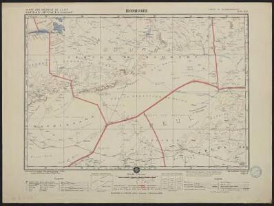 Carte des colonies de l'A.O.F. Hombori