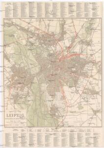 Neuester Plan von Leipzig