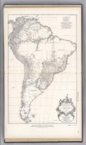 Facsimile:  South America by D'Anville.