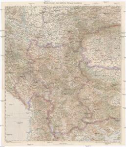 Übersichtskarte des südlichen Kriegsschauplatzes