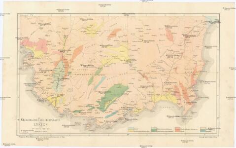 Geologische Übersichtskarte von Lykien