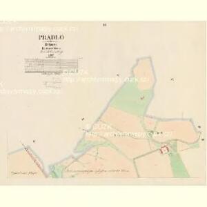 Pradlo - c6067-1-003 - Kaiserpflichtexemplar der Landkarten des stabilen Katasters