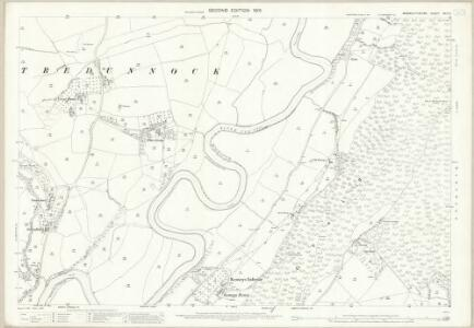 Monmouthshire XXIX.3 (includes: Cemais; Llanhennock Fawr; Llantrisaint Fawr) - 25 Inch Map