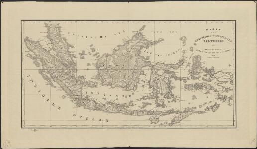 Kaart van Nederlands Oostindische bezittingen