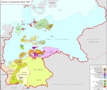 Staaten im Deutschen Reich 1871
