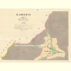 Kadrzin - m1130-1-002 - Kaiserpflichtexemplar der Landkarten des stabilen Katasters
