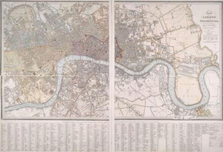 PLAN OF LONDON AND WESTMINSTER with the Borough of SOUTHWARK Being an INDEX to the Large Plan in forty Sheets
