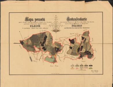 Mapa porostů revíru Zruče s lesním oddělením Zábělá (rev. Hrádek)