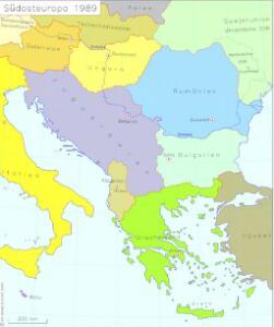 Südosteuropa 1989