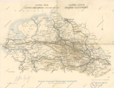 Bez titulu: Železniční trati v severním Německu
