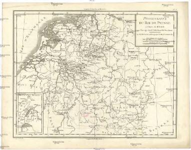 Possessions du roi de Prusse a l'ouest du Weser