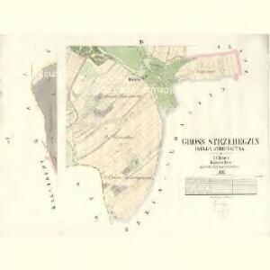 Gross Strzebegzin (Welka Střebegčyna) - c8061-1-003 - Kaiserpflichtexemplar der Landkarten des stabilen Katasters