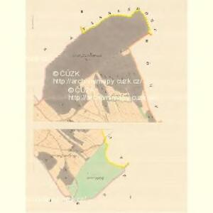 Starzendorf (Maly Vgec) - m3541-1-001 - Kaiserpflichtexemplar der Landkarten des stabilen Katasters