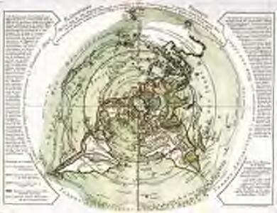 Planisphere physique où l'on voit du pole septentrional ce que l'on connoît de terres et de mers