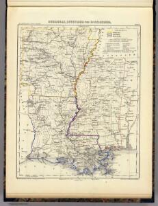 Arkansas, Louisiana und Mississippi.