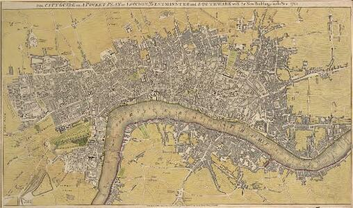 THE CITY GUIDE OR POCKET PLAN OF LONDON, WESTMINSTER And SOUTHWARK With the New Buildings to the Year 1765 121