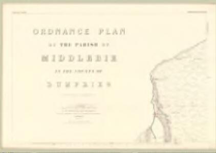 Dumfries, Sheet XLIV.14 (Middlebie) - OS 25 Inch map