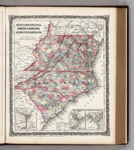 Maryland, Virginia, North Carolina, and South Carolina.