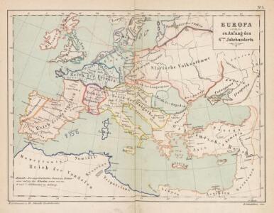 Europa zu Anfang des 6ten Jahrhunderts