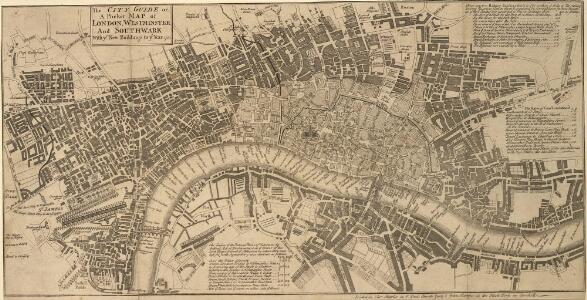 The CITY GUIDE or A Pocket MAP of LONDON, WESTMINSTER And SOUTHWARK With ye New Buildings to ye Year 1742