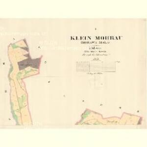 Klein Mohrau (Morawa Mala) - m1687-1-001 - Kaiserpflichtexemplar der Landkarten des stabilen Katasters
