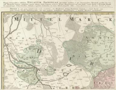 Mappa Geographica exhibens Dvcatvm Saxoniae Specialiter Sumtum, et qui Praerogativa Electorali gaudet :