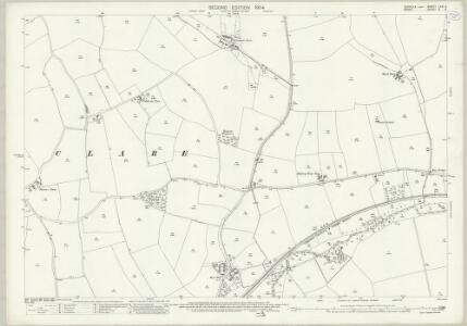Suffolk LXXI.6 (includes: Ashen; Clare; Stoke by Clare) - 25 Inch Map