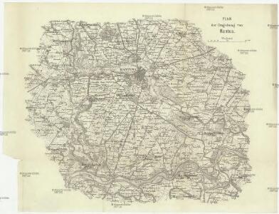 Plan der Umgebung von Mantua