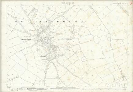 Northamptonshire XXX.10 (includes: Guilsborough; Hollowell; Ravensthorpe) - 25 Inch Map